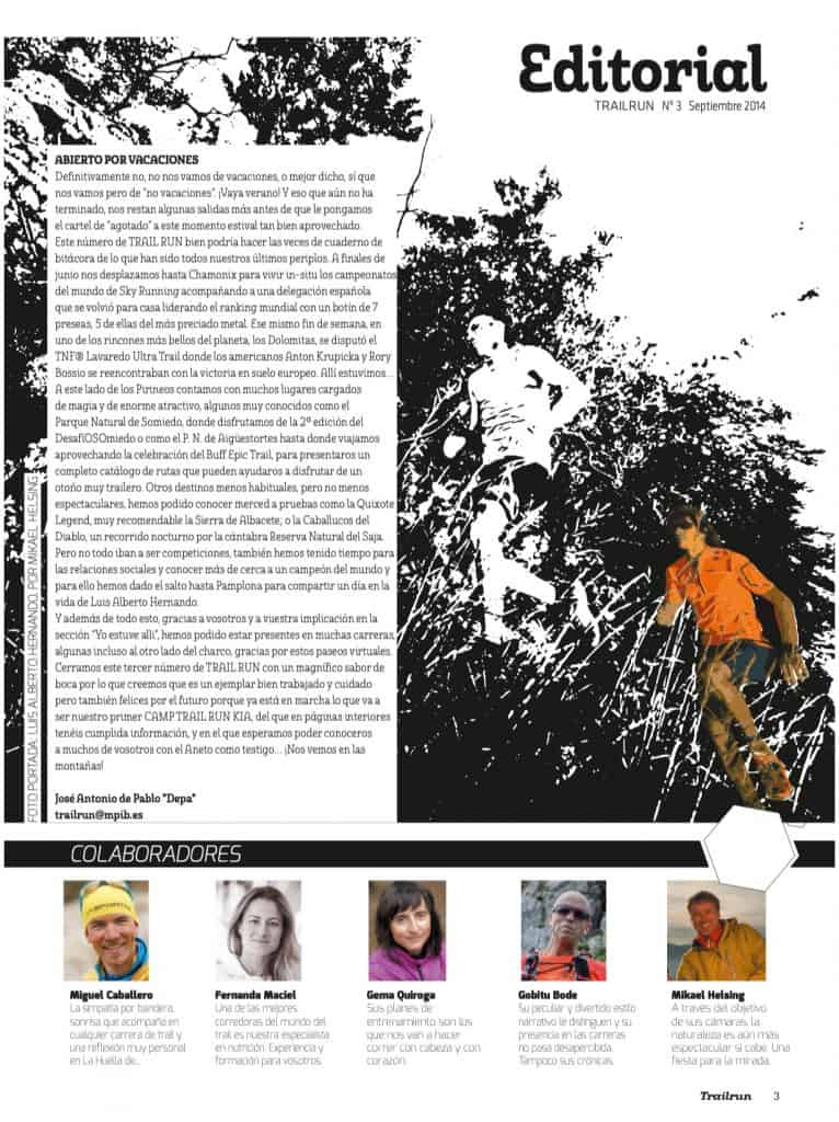 Editorial Revista TrailRun 3
