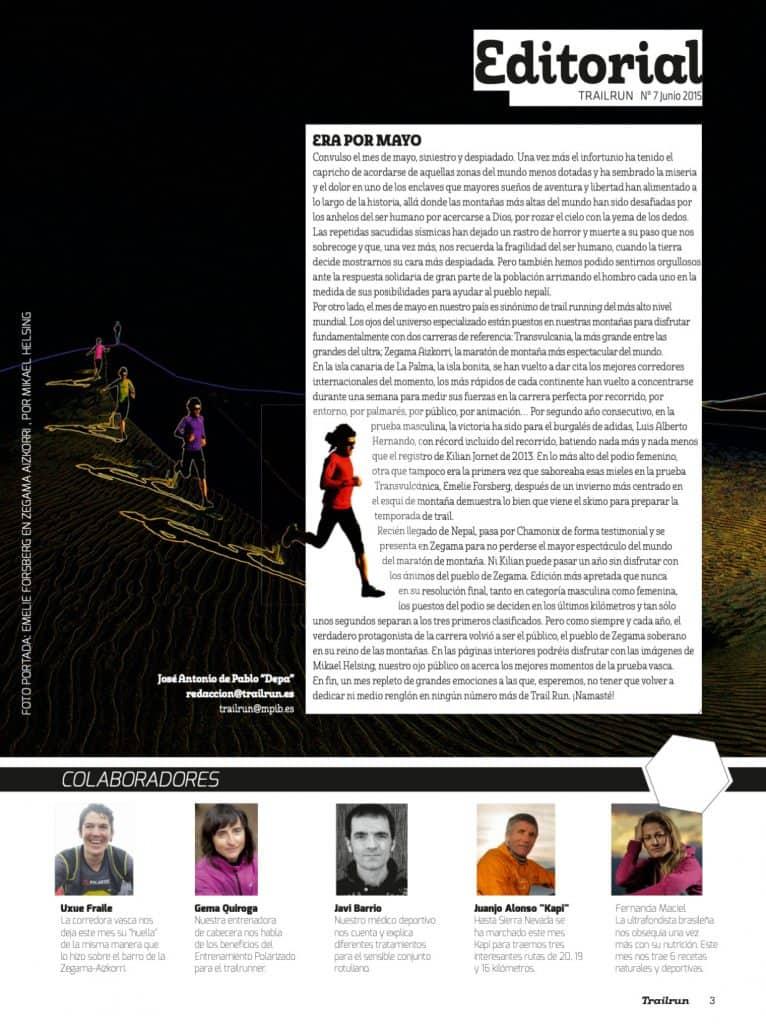 Editorial Revista TrailRun 7