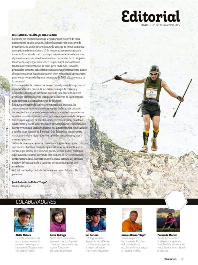 Editorial Revista TrailRun 10