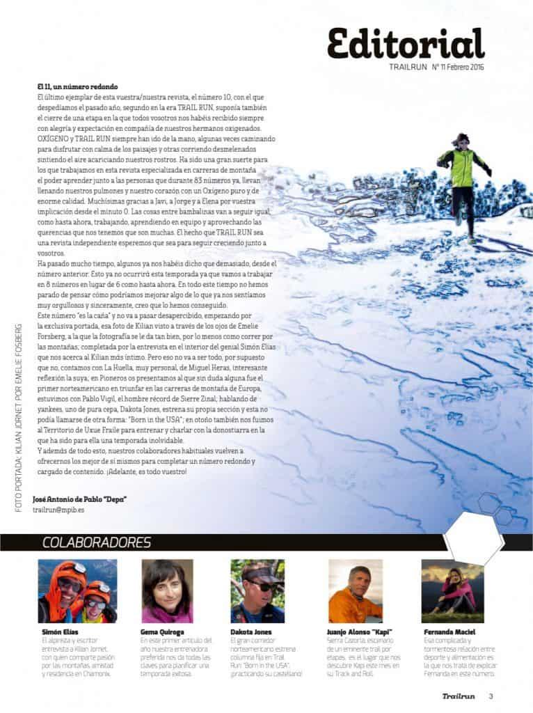 Editorial Revista TrailRun 11