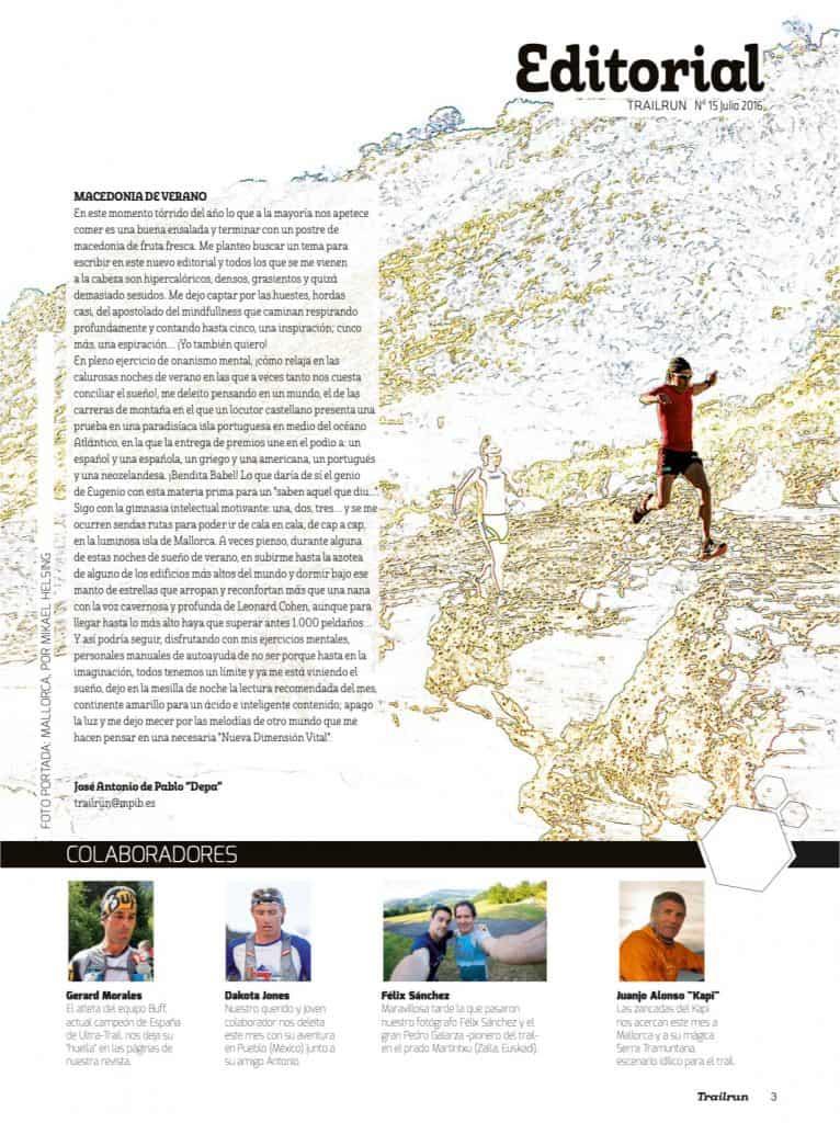 Editorial Revista TrailRun 15