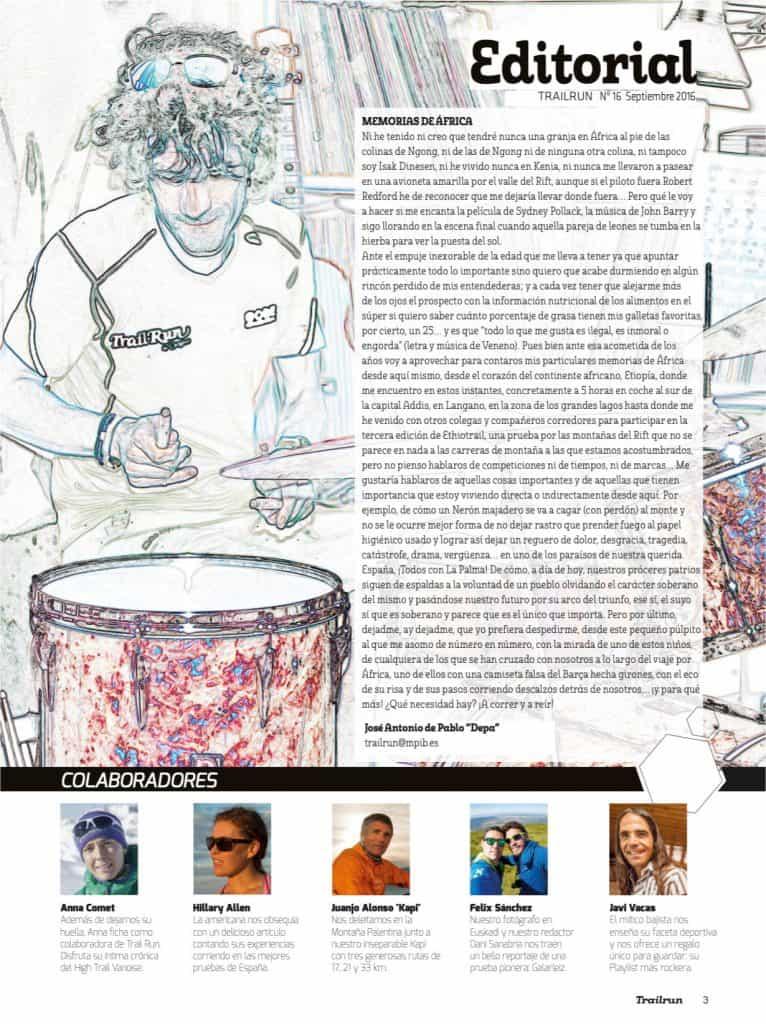 Editorial Revista TrailRun 16