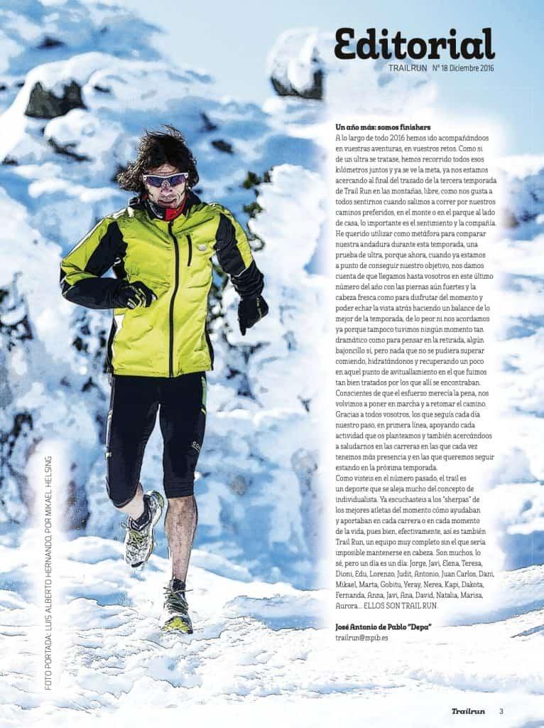 Editorial Revista TrailRun 18