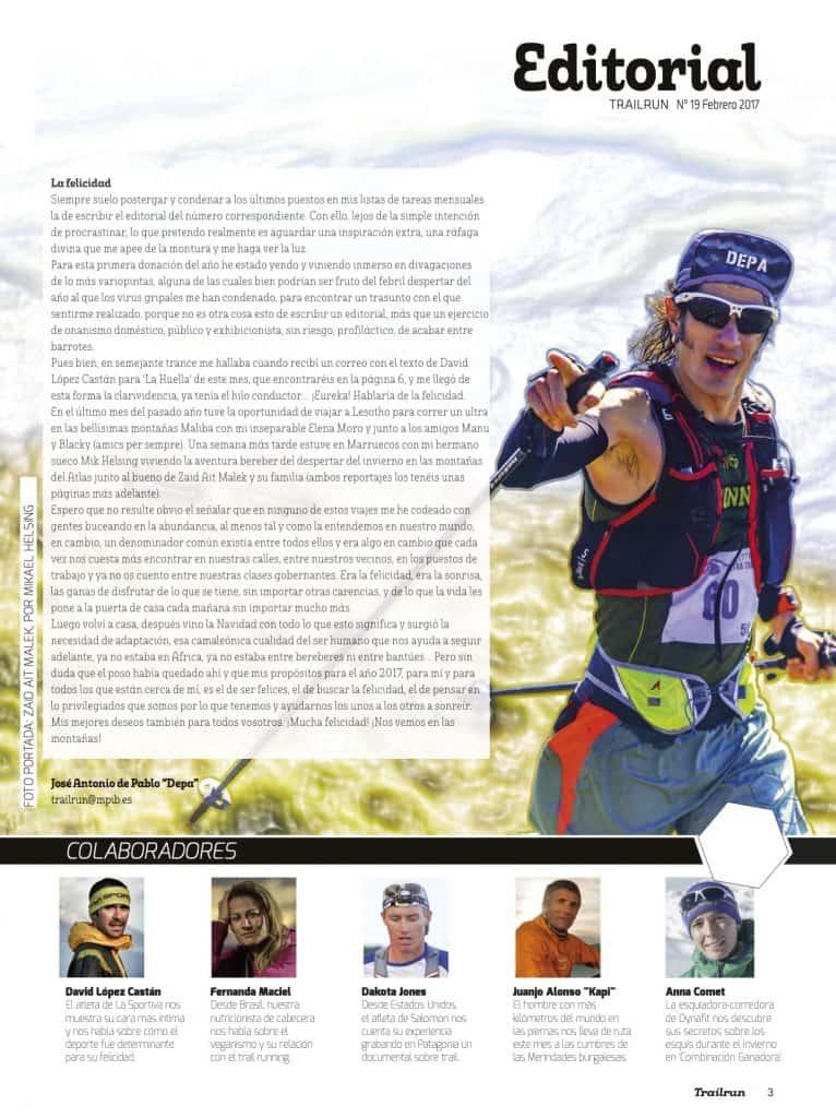 Editorial Revista TrailRun 19