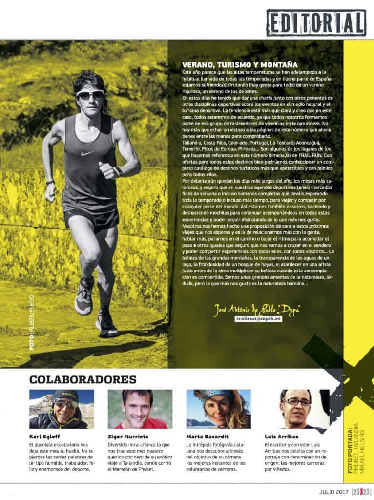 Editorial Revista TrailRun 23