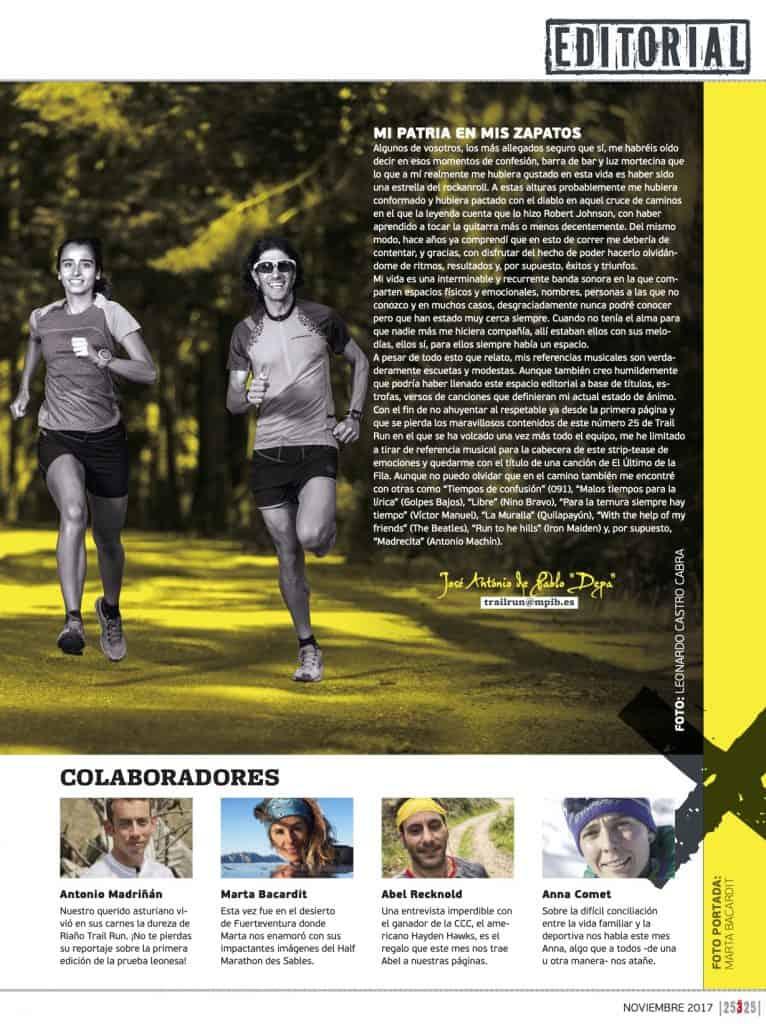 Editorial Revista TrailRun 25