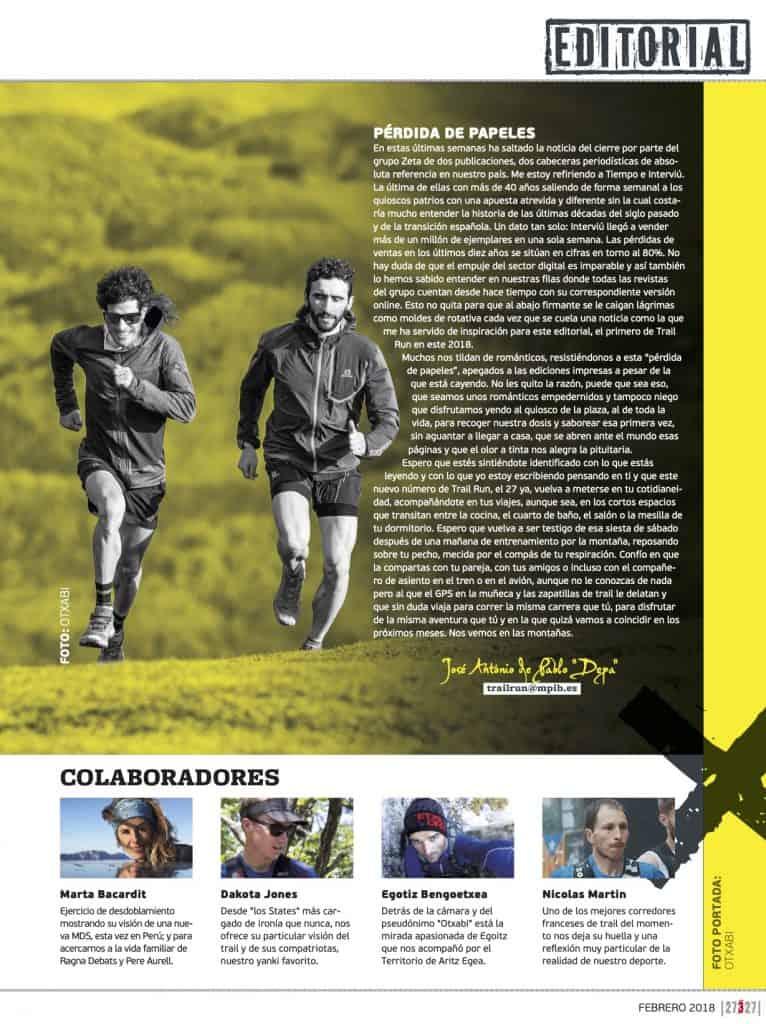 Editorial Revista TrailRun 27