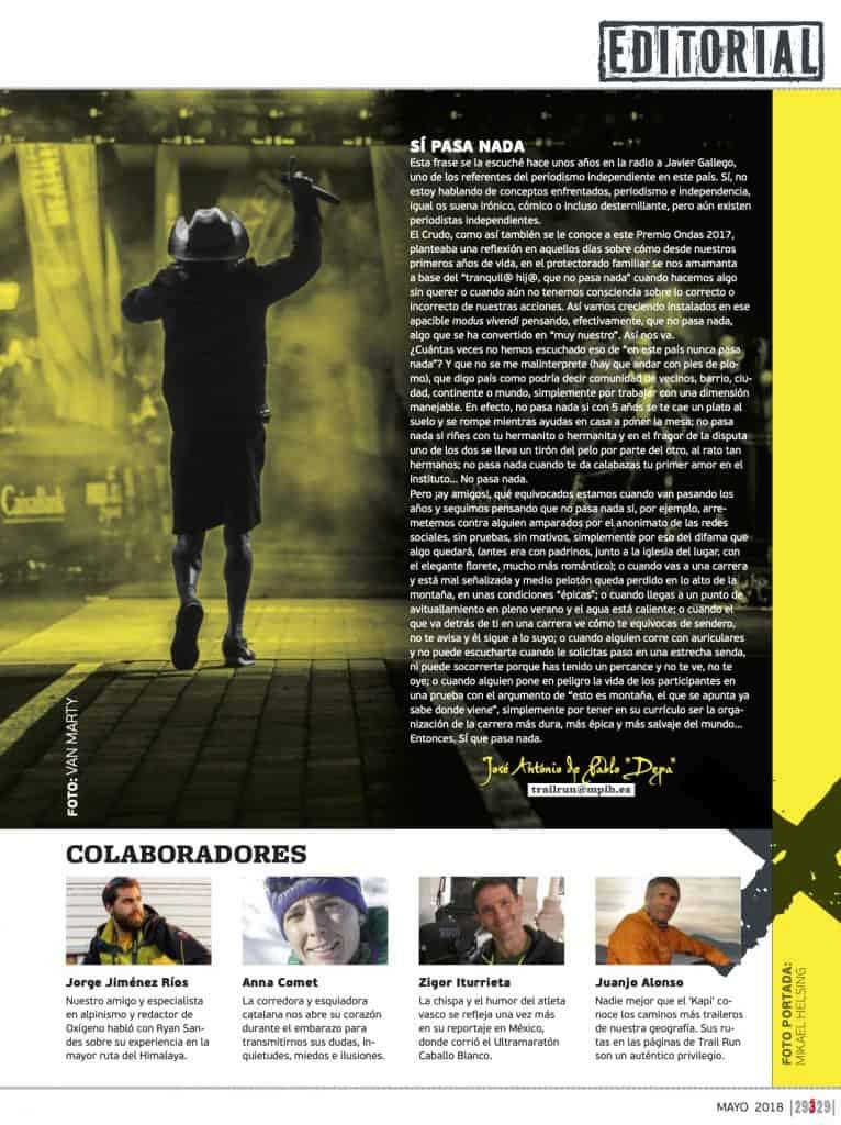 Editorial Revista TrailRun 29