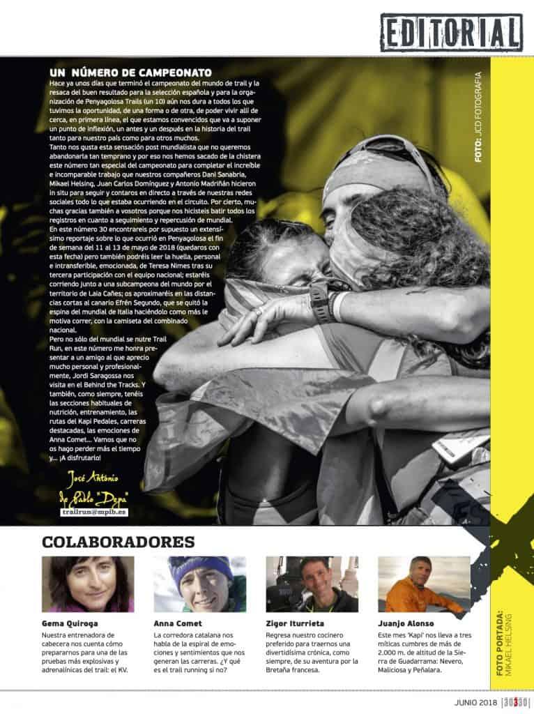 Editorial Revista TrailRun 30