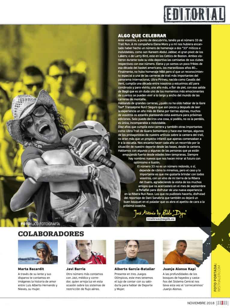 Editorial Revista TrailRun 33