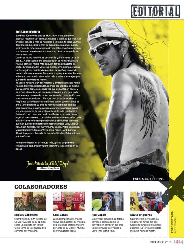 Editorial Revista TrailRun 34