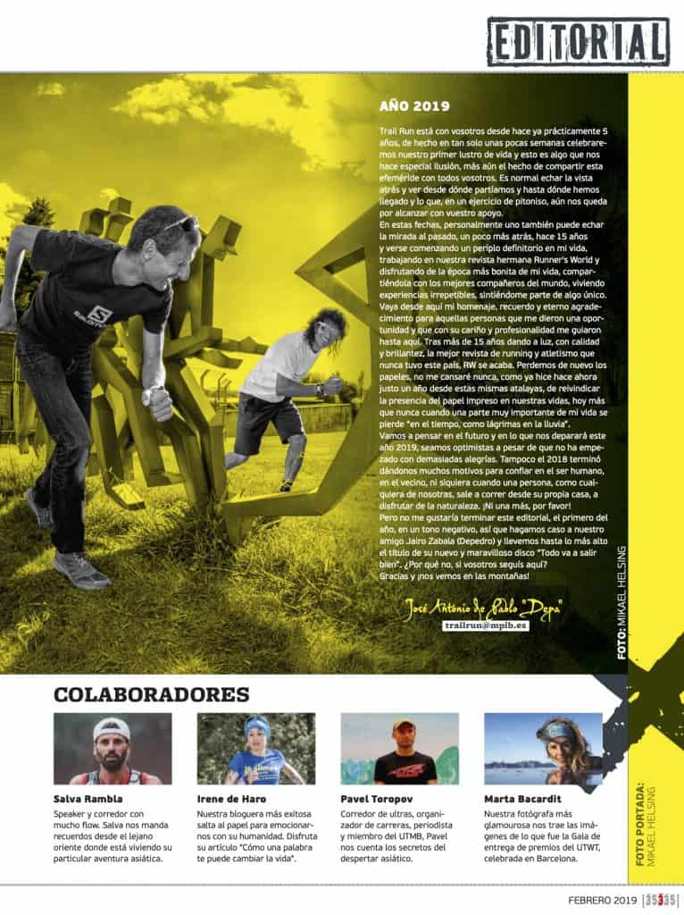 Editorial Revista TrailRun 35