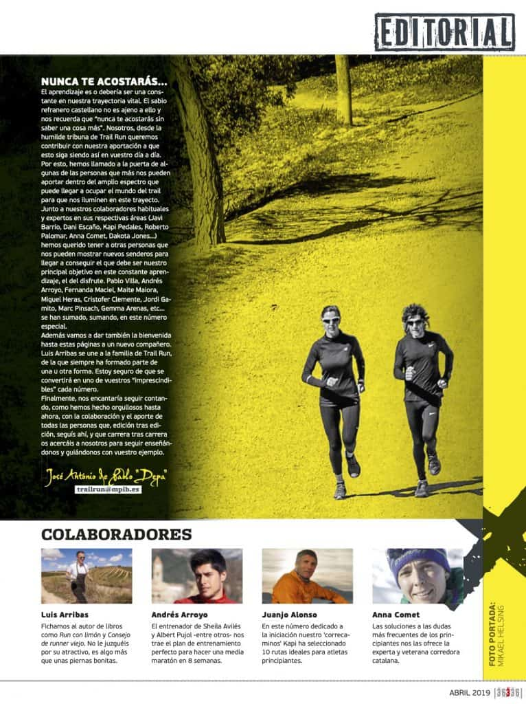Editorial Revista TrailRun 36