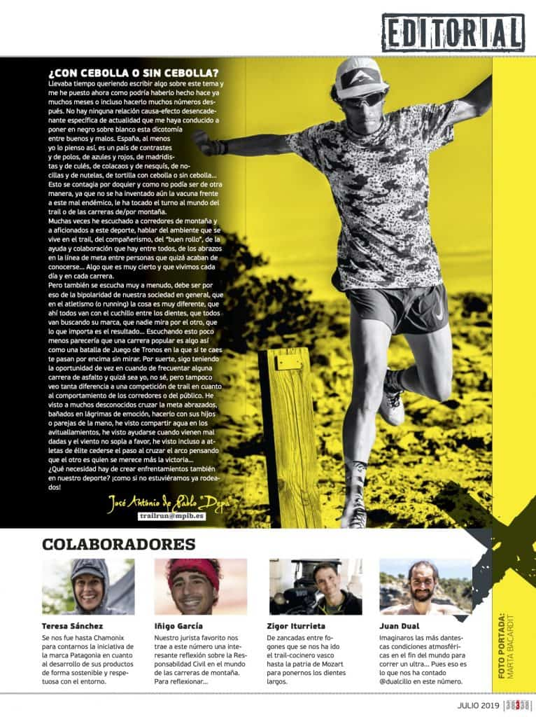 Editorial Revista TrailRun 38